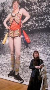 Here I am at a Cindy Sherman photography retrospective NYC.