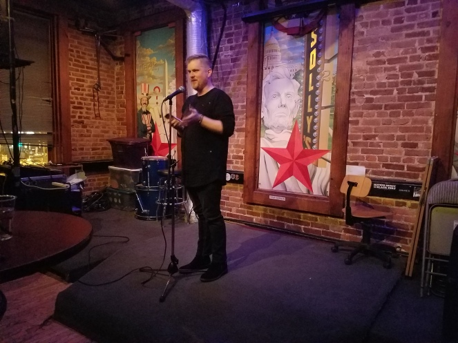 Zach Vandezende, aka Zach Doss, reading at Fighting Words AWP DC 2017