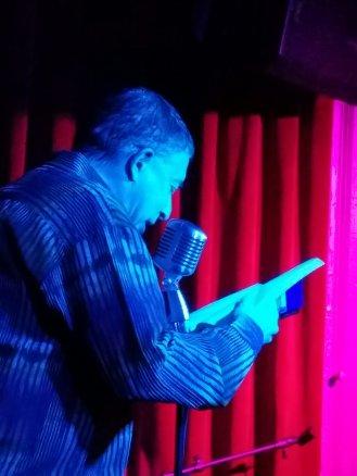David Huberman 3/1/2019 FBomb NYC Flash Fiction Reading Series. Photo Credit: A.E. Weisgerber.
