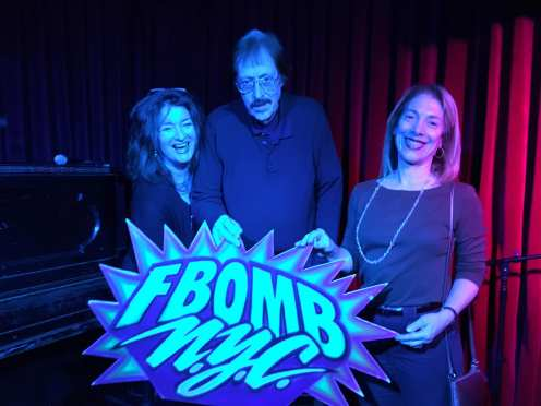 Photo Credit: Paul Weisgerber. From L A. E. Weisgerber, Ron Kolm, Amy Barone 3/1/2019 FBomb NYC Flash Fiction Reading Series.