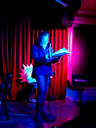 Patricia Carragon 3/1/2019 FBomb NYC Flash Fiction Reading Series. Photo Credit: A.E. Weisgerber.