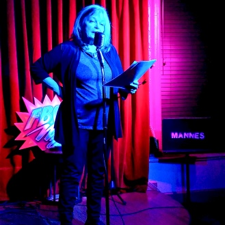 Dorothy Cantwell 3/1/2019 FBomb NYC Flash Fiction Reading Series. Photo Credit: A.E. Weisgerber.