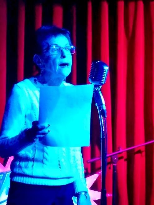 Linda Lerner 3/1/2019 FBomb NYC Flash Fiction Reading Series. Photo Credit: A.E. Weisgerber.