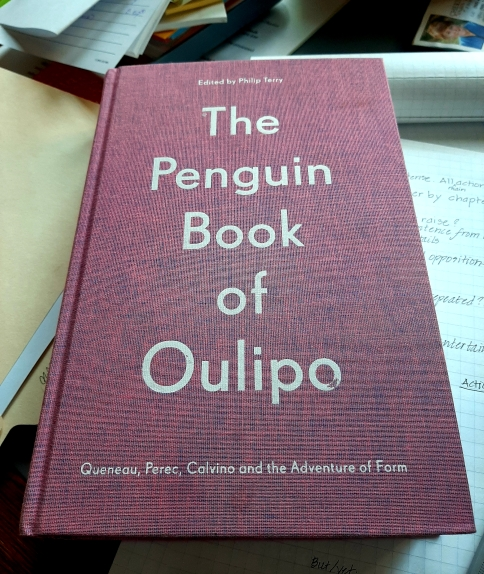 "anneweisgerber.com ""The Penguin Book of Oulipo"" (2019) Front"