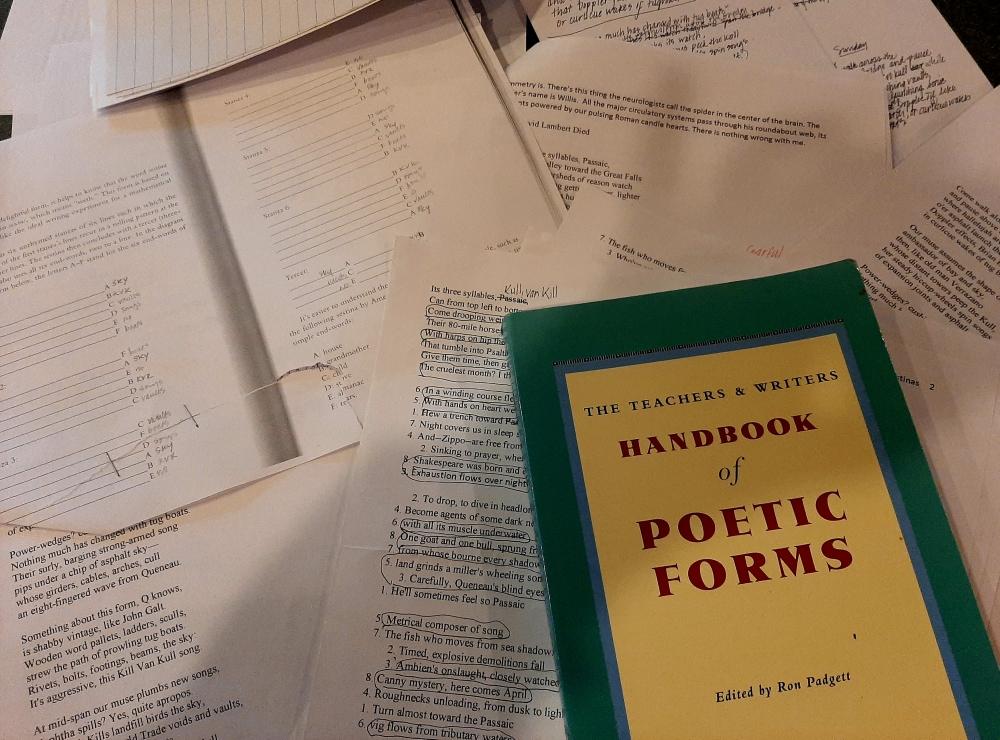 "anneweisgerber.com ""Bayonne Bridge"" drafts ""Ron Padgett"" ""Poetic Forms"""